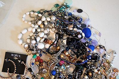 Lot of  Costume Jewlery Necklaces Earring ect. over 1.5 lbs