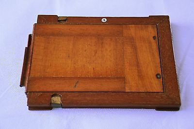 Vintage wooden negative holder for plate camera