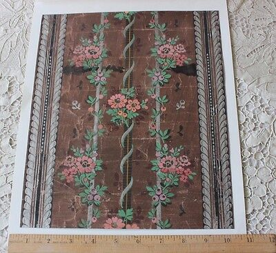 """Rare 18thC French """"Domino"""" Paper Block Printed-Hand Painted-Stenciled~"""