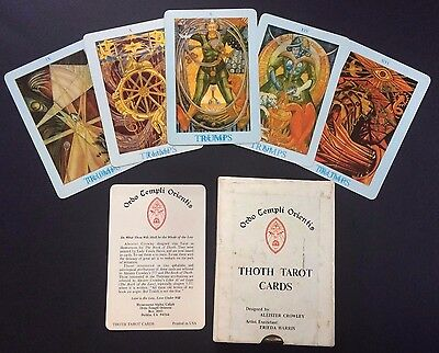 1977 Thoth Tarot Cards ALEISTER CROWLEY 2nd printing RARE Llewellyn Productions