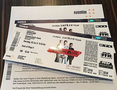 2 depeche mode tickets fos2 frankfurt commerzbankarena eur 150 00 picclick de. Black Bedroom Furniture Sets. Home Design Ideas