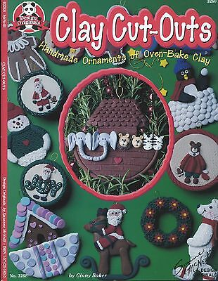 Clay Cut-Outs DIY Ornaments Instruction Book by Design Originals 14 Projects