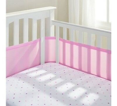 BreathableBaby 4 Sided Mesh Cot Liner - Pink