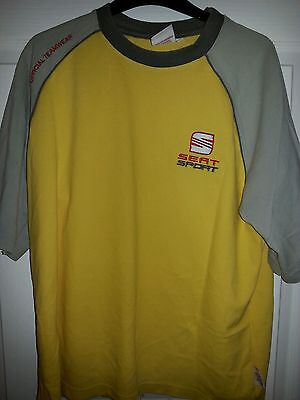 ***SEAT SPORT TEAMWEAR wrc rally t shirt Ford Vw Citroen***