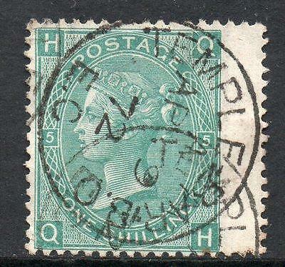 Qv Sg117 1/- Green Plate 5 Used In Ireland