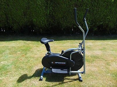 Cross Trainer - 2 in 1 Elliptical trainer and bicycle - Confidence Fitness.