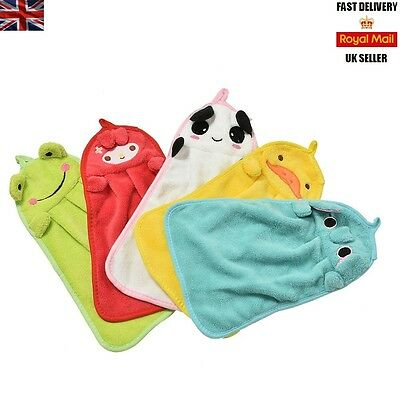 Cute Novelty Animal - Children Kids Hanging Hand Towel / Bath Face Cloth Flannel