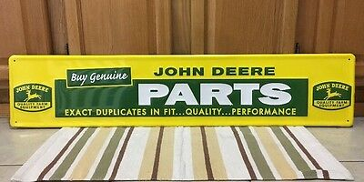 John Deere Tractor Parts Quality Farm Equipment Metal Sign Tractors Genuine New