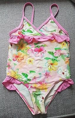Girls - Floral - swimming costume - 5-6 years - pink - pretty