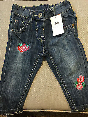 BNWT NEXT Baby Girls Embroidered Jeans - 12-18 Months