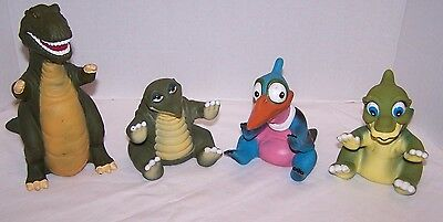 1988 Land Before Time Hand Puppets Pizza Hut Spike, Ducky, Sharp Tooth & Petrie