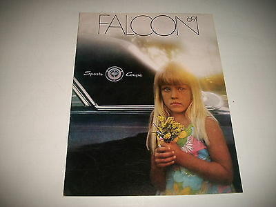 1969 Ford Falcon Sales Brochure Catalog Sports Coupe Club Coupe No Dealer Stamp