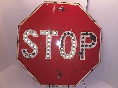California Division Of Highways Cats Eye Stop Sign