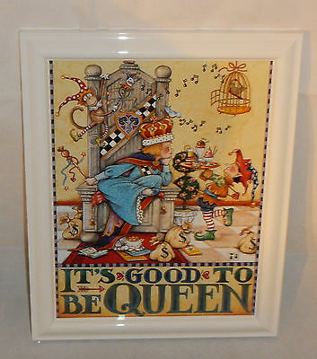 "MARY ENGELBREIT ""IT'S GOOD to be QUEEN""  FRAMED PRINT"