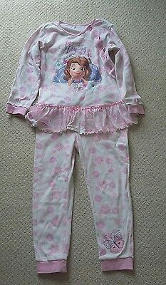 Girls George Disney Sofia the First All -In-One Pyjamas Size 7-8 Years