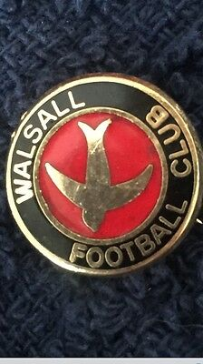 Vintage small red & black Walsall FC badge