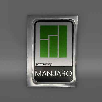 Powered by Manjaro Linux Metal Decal Sticker Case Computer PC Laptop Badge