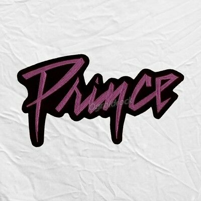 Prince Word Logo Embroidered Big Patch Rogers Nelson Purple Rain Pop Rock Love