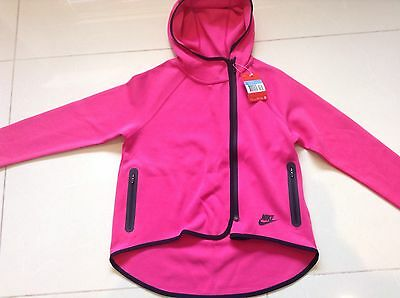 Girls Nike Pink Full-Zip Hoodie Medium Age 10-12 Bnwt