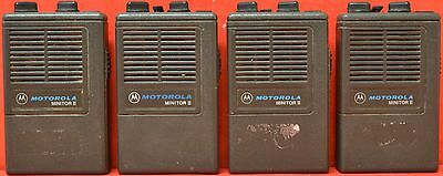 Lot of 4 Motorola Minitor II 2 Channel Lowband UHF Emergency Personel Pagers