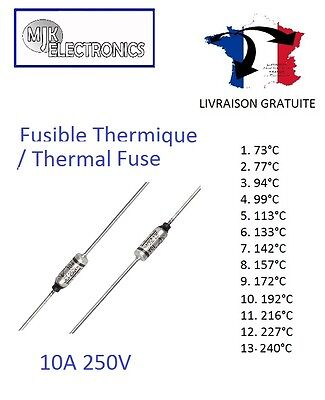 SEFUSE Cutoffs NEC Themal Fuse / Fusible Thermique 10A 250V