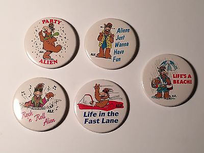 5 Different Alf Magnets by Russ 1987