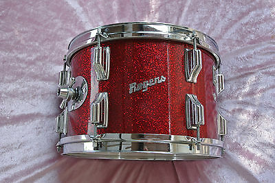 """1960's Rogers 12"""" RED SPARKLE HOLIDAY TOM for YOUR DRUM SET! LOT #T864"""