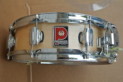 "PREMIER 14"" NATURAL LACQUER SNARE DRUM for YOUR SET! #C697"