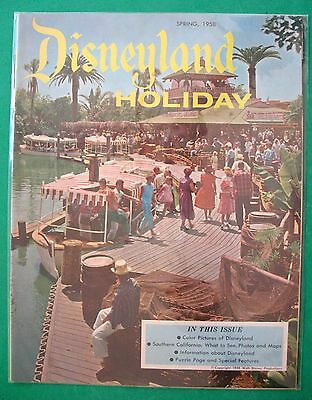 SPRING 1958 DISNEYLAND ~ HOLIDAY magazine ~ JUNGLE CRUISE ~ ADVENTURELAND