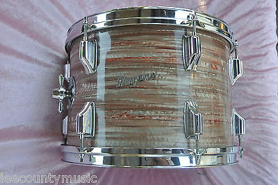 """ADD this RARE VINTAGE Rogers 13"""" PINK STRATA TOM to YOUR DRUM SET! LOT #J980"""