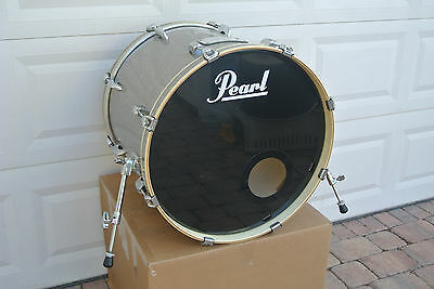 "PEARL EXPORT 22"" BASS DRUM in SILVER SPARKLE for SET! C744"