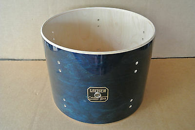 """GRETSCH CATALINA BIRCH 12"""" CARIBBEAN BLUE TOM SHELL for YOUR DRUM SET! LOT #T702"""