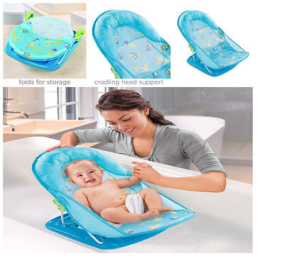 Baby Bather Seat Infant Bathing Support Adjustable Newborn Folding Bath Sink Tub