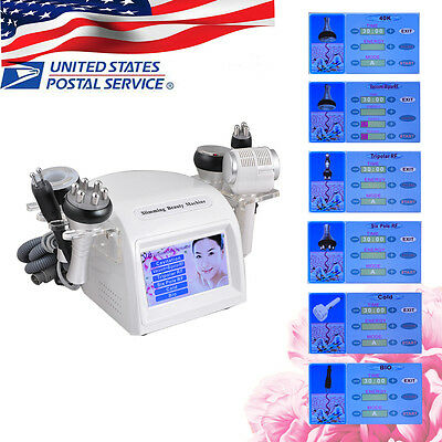 8 in1 RF BIO 40K Cavitation Vacuum Multipolar Body Slim Weight Loss Machine US+