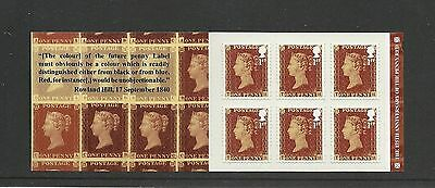 Great Britain Booklet Anniversary Penny Red MNH