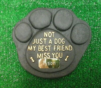 Dog Large Pet Memorial/headstone/stone/grave marker/memorial paw with plaque 12