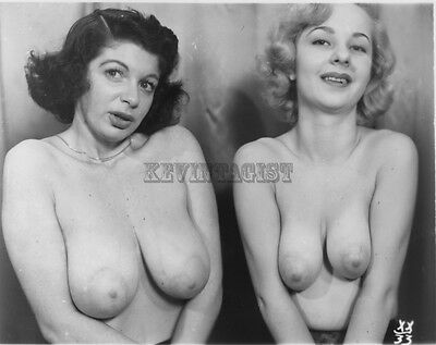 Vintage Nude Photograph  BUSTY SALLY LUX * BLONDE