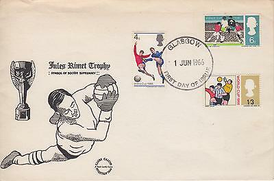 GB 1966 World Cup, Very Scarce SCOT LANDY illustrated FDC