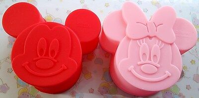 New Disney Mickey Minnie Muffin Cake Silicone Mold Reusable Fast Free Shipping