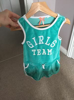 Lovely Girls Green Summer Play suit From Next, Age 3 Years!