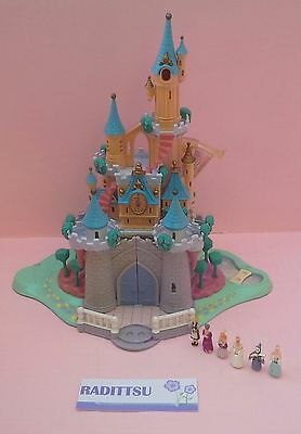 Chateau Disney Cendrillon Cinderella 6 Personnages Polly Pocket Vintage 1995