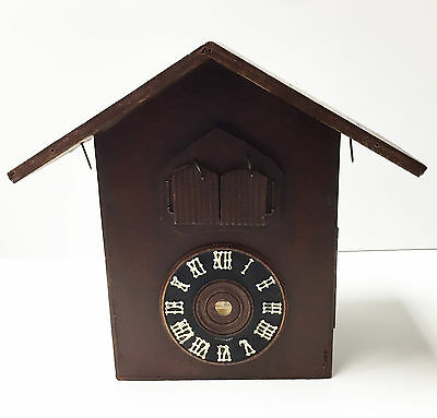 Antique Vintage Wooden Cuckoo Clock Shell German Made Preowned  Parts  Or Repair