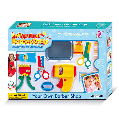 Play Accessories Barber Shop Salon Hairstyle Play Set Kids with Clipper toy kit