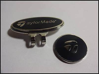 *NEW* TaylorMade Hat Clip & Ball Marker - Black