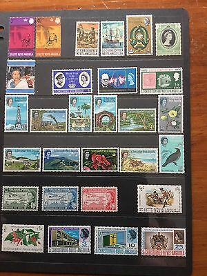 29 Stamps From St Christopher _nevis -Anguilla Mh  Some MNH