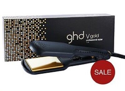 Ghd V Gold Max Hair Straightener Widest Plates 48mm Styler  New In Box 2 Yr Wty