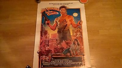 Big Trouble in Little China vintage poster.  69 & half by 103 and a half cm.