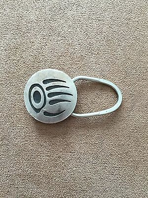 Sterling Silver Key Holder with Native American Motif, Zuni or Navajo