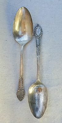 Oneida Silversmiths Community Plate Serving Spoons Rendezvous aka Old South