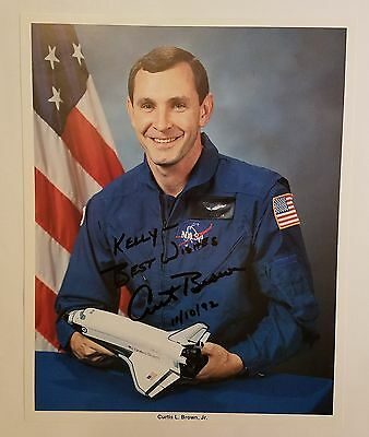 Curtis L. 'curt' Brown Jr. Sts-47 Nasa Astronaut Signed Autographed 8X10 Photo